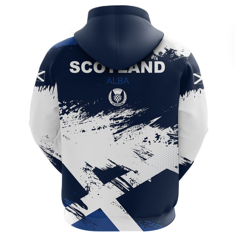 1stScotland Hoodie - Scottish Flag Brush | 1stscotland