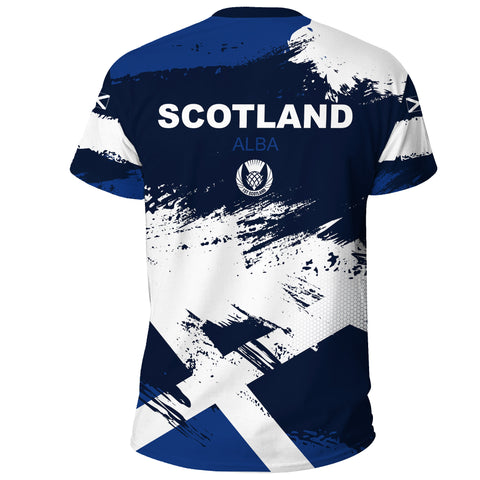 Image of 1stScotland T-shirt - Scottish Flag Brush | 1stscotland