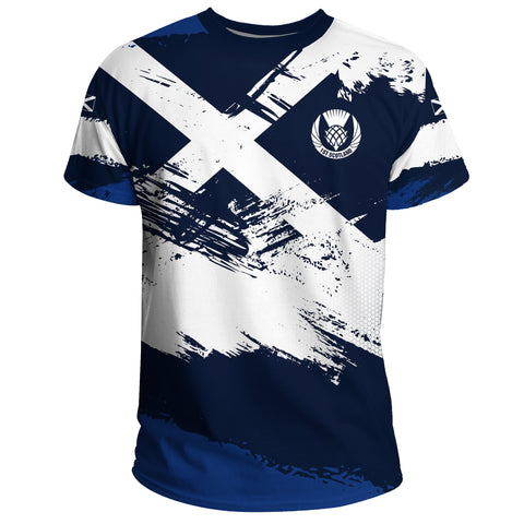1stScotland T-shirt - Scottish Flag Brush | 1stscotland