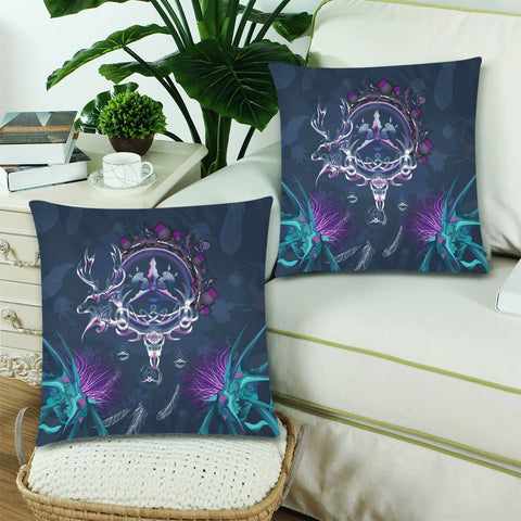 Scottish Zippered Pillow Cases - Red Deer Thistle Celtic Dream Catcher A18