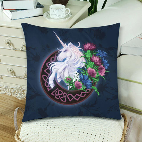 Scotland Zippered Pillow Cases - Unicorn Thistle And Moon Celtic A18