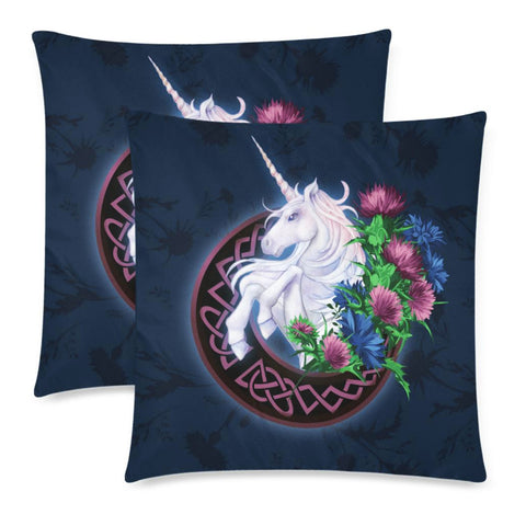 Scotland Zippered Pillow Cases - Unicorn Thistle And Moon Celtic