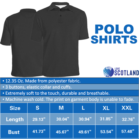 Scottish Lion On Top Polo Shirt