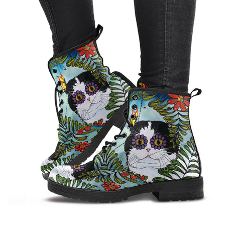 Hiding Scottish Fold Cat - Leather Boots | HOT Sale