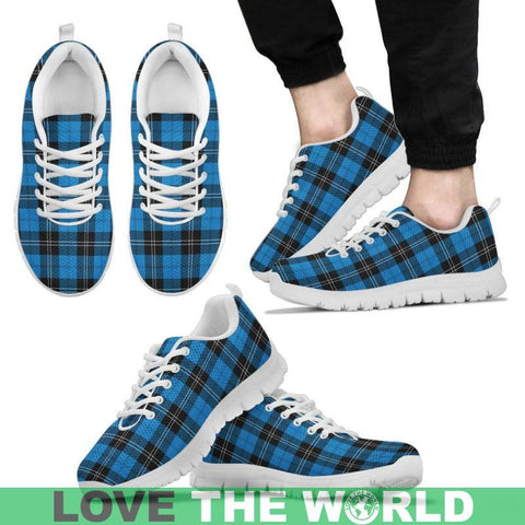 Ramsay Blue Ancient Tartan Sneakers - Bn Mens Sneakers Black 1 / Us5 (Eu38)