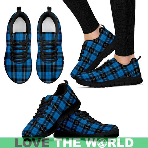 Image of Ramsay Blue Ancient Tartan Sneakers - Bn Mens Sneakers Black 1 / Us5 (Eu38)