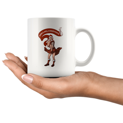 Nollaig Scotsman - White Mug | Special Custom Design