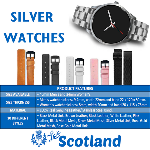 Image of The Unicorn Of Scotland Coin Silver Watch