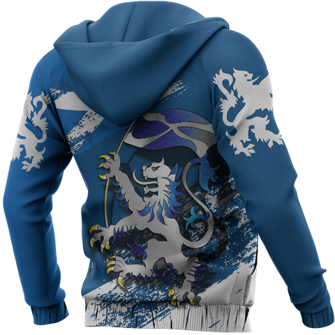 Scottish Rampant Lion Holding The Flag Zipper Hoodie