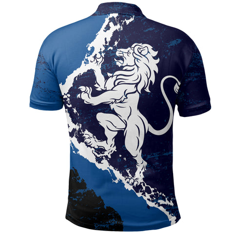 Image of Scottish Lion On Top Polo Shirt | 1stscotland.com | LoveScotland