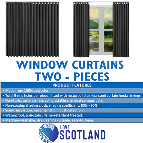 Scotland Window Curtain - Scottish Terrier And Thistle Vintage A22