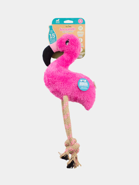 becopets-Peluche-pour-chien-eco-friendly-Flamant-rose-Fernando