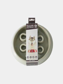 inooko - gamelle anti glouton pour grand chien taupe