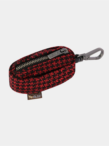 pet-play-distributeur-sac-a-crottes-tweed-noir-rouge