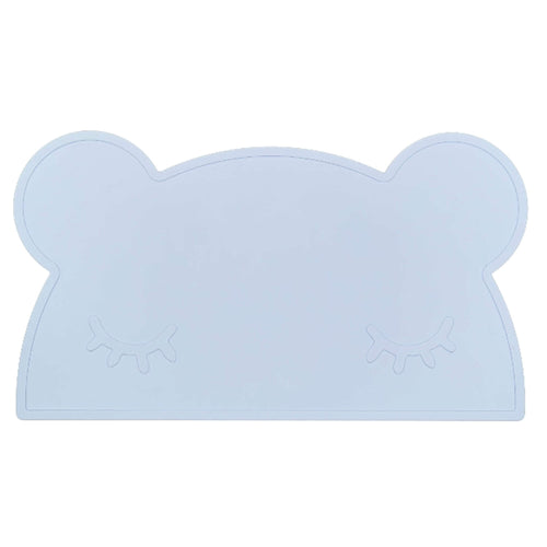 Silikon Kinder Tischset powder blue bear
