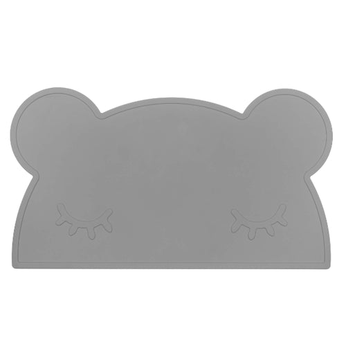 Silikon Kinder Tischset grey bear