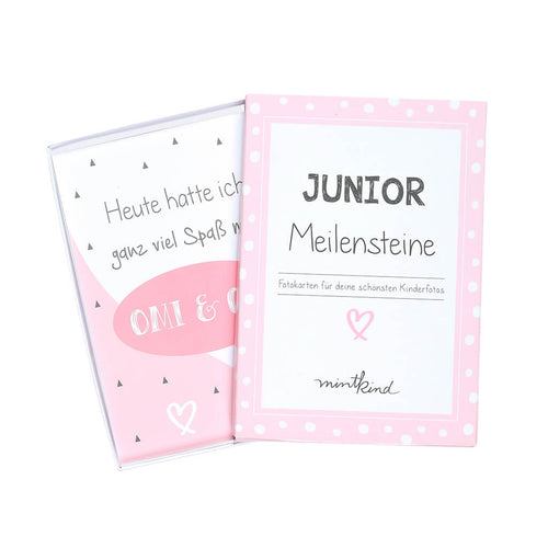 Meilensteinkarten Junior Rosa
