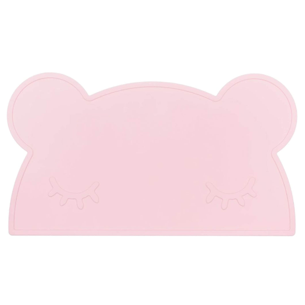 Silikon Kinder Tischset powder pink bear