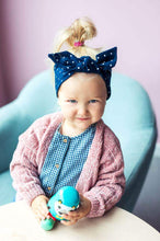 Laden Sie das Bild in den Galerie-Viewer, Babyhaarband von UL&KA - Navy with Dots