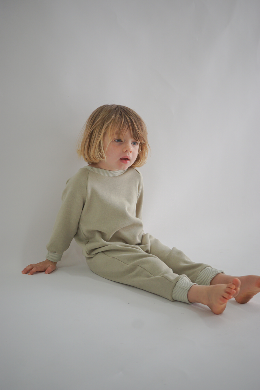 FLEECE ONESIE | SAGE
