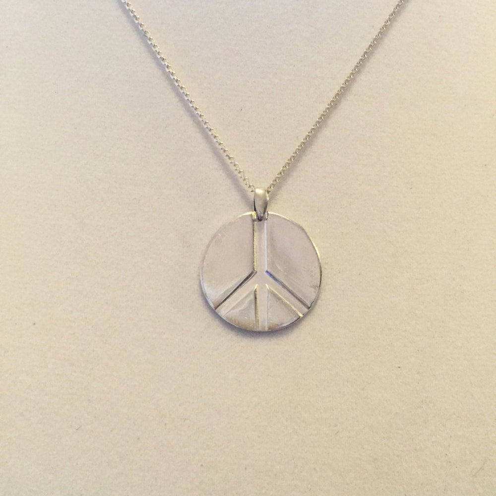 Peace sign necklace silver Peace necklace Round silver necklace - large round silver necklace, silver abstract necklace, lace, silver circle