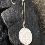 Rough Silver Lotus Necklace-Jewelry > Necklaces-Mechele Anna Jewelry