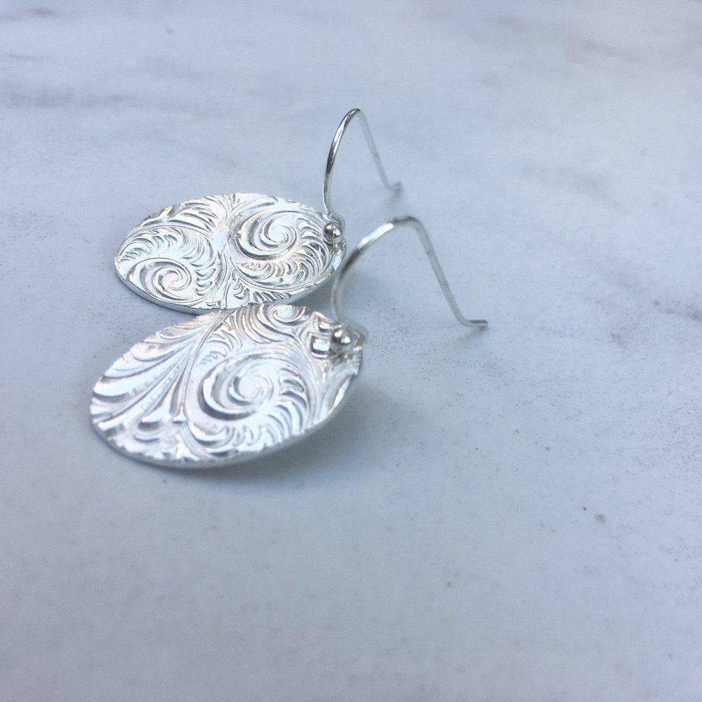 Silver Swirl Earrings-Earrings-Mechele Anna Jewelry