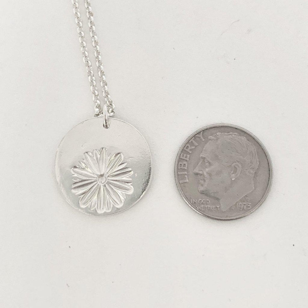 Silver Daisy Necklace-Necklaces-Mechele Anna Jewelry