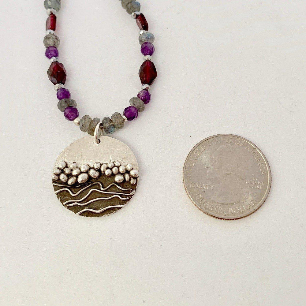 Purple Zen Brook-Necklaces-Mechele Anna Jewelry