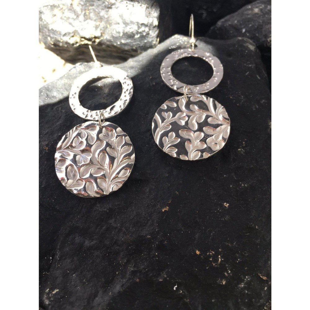Double Circle Earrings-Earrings-Mechele Anna Jewelry