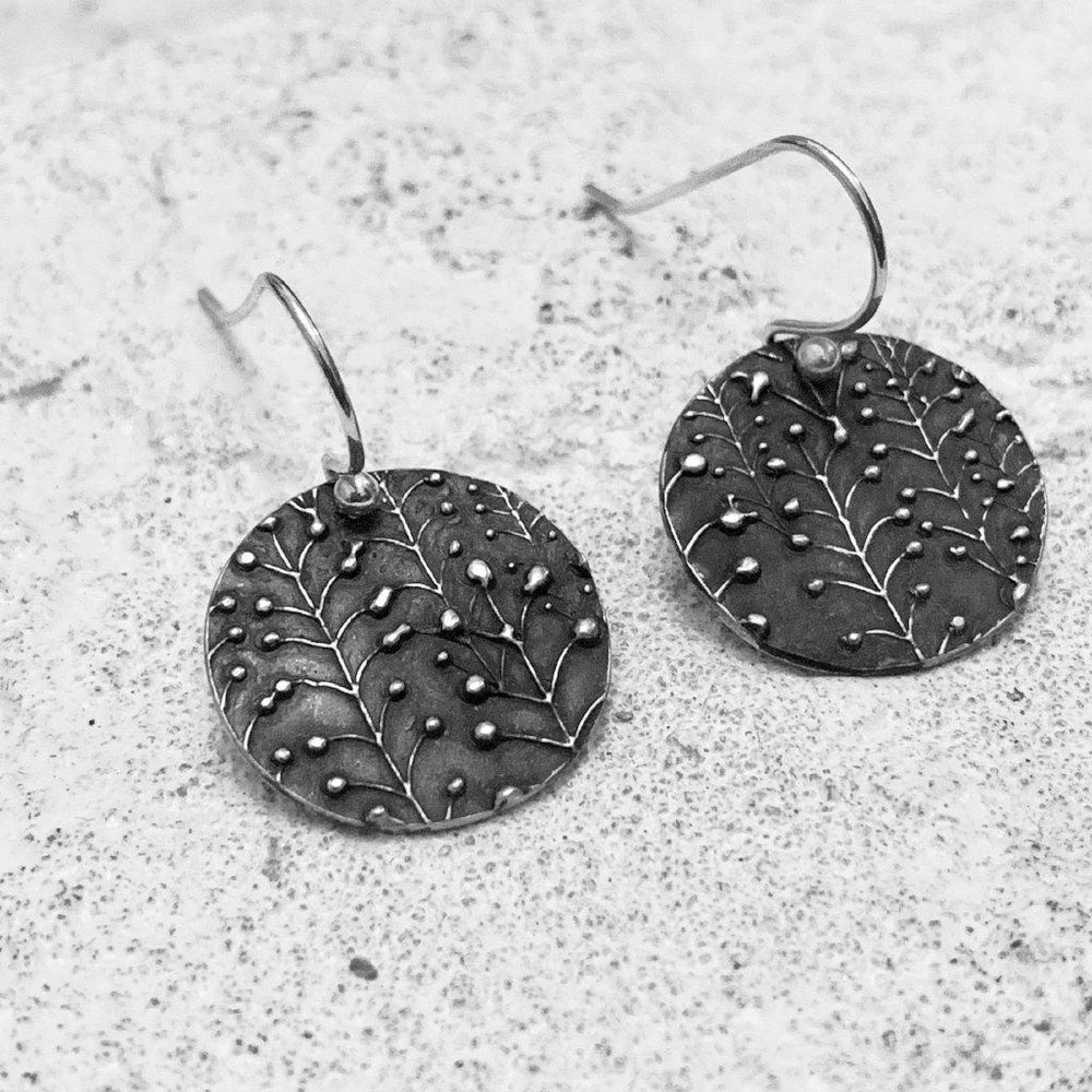 Oxidized Lily of the Valley Earrings