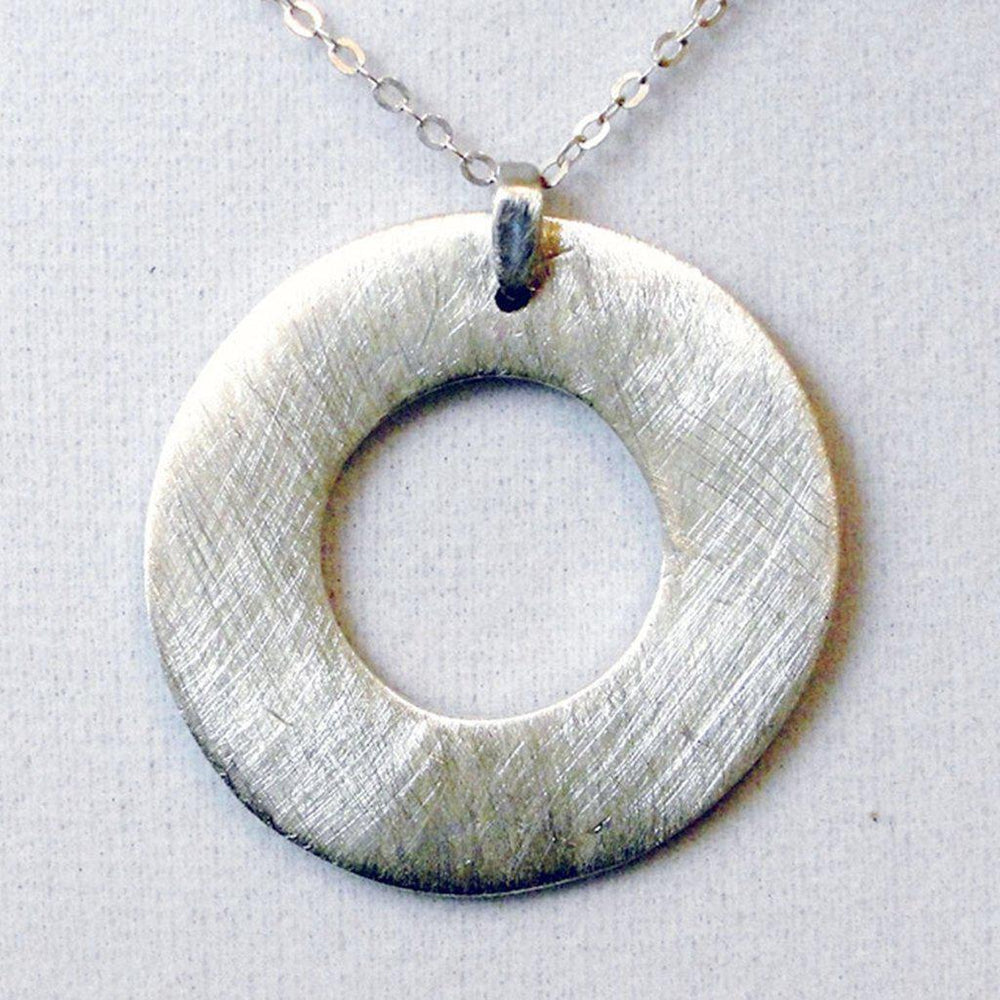 Silver Eternity Circle Necklace-Necklaces-Mechele Anna Jewelry