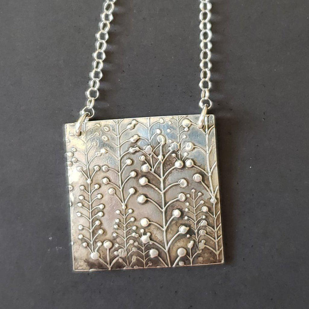 Large Silver Lily of the Valley Necklace