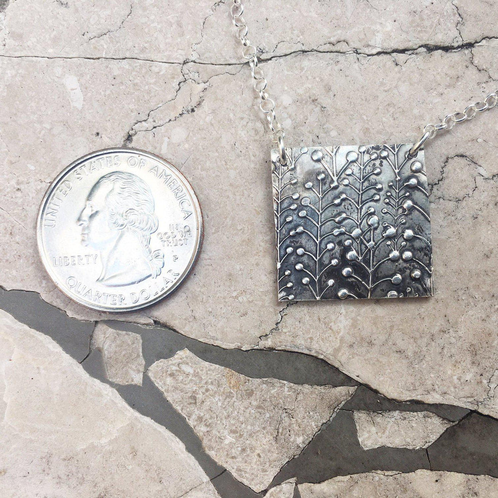 Large Silver Lily of the Valley Necklace-Necklaces-Mechele Anna Jewelry