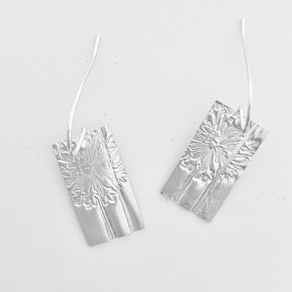 Dandelion Bar Earrings-Earrings-Mechele Anna Jewelry