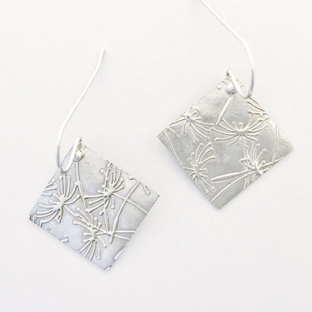 Diamond Dandelion Earrings
