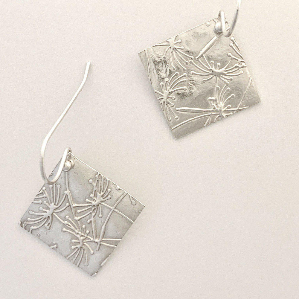 Diamond Dandelion Earrings-Earrings-Mechele Anna Jewelry