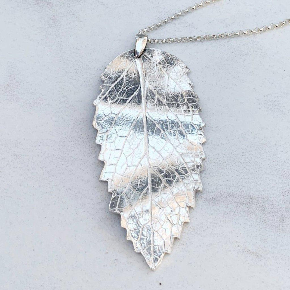 Mint Leaf Necklace-Necklaces-Mechele Anna Jewelry