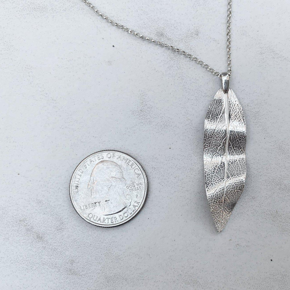 Silver Sage Leaf Necklace