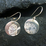Silver Flower Earrings-Earrings-Mechele Anna Jewelry
