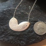 Silver Paisley Necklace-Necklaces-Mechele Anna Jewelry