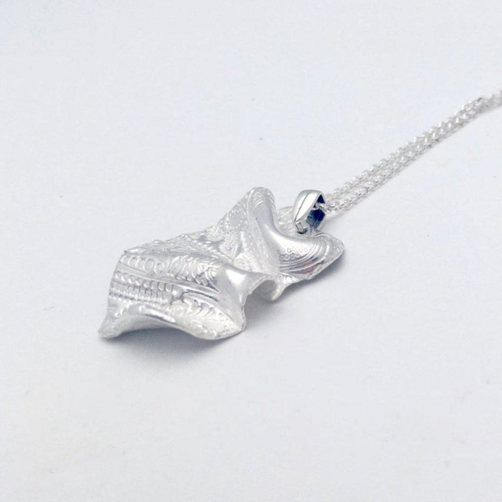 Silver Paisley Wave Necklace