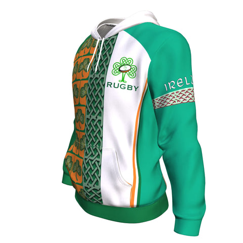 Ireland Rugby Champion Hoodie - Green Color - Side 2