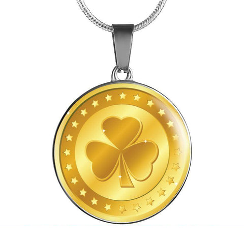 Image of Ireland Gold Shamrock Jewelry H4 1ST