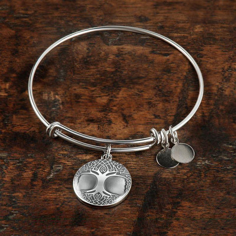 Silver Celtic Tree Of Life Circle ( Necklace/Bangle) A3 1ST