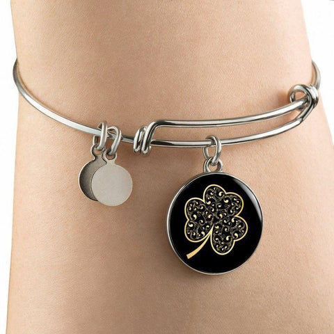 Image of Ireland Shamrock Glowing Circle ( Necklace/bangle) A0 1ST