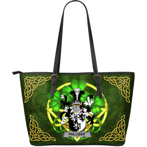 Irish Handbags, Palliser Family Crest Handbags Celtic Shamrock Tote Bag Large Size A7