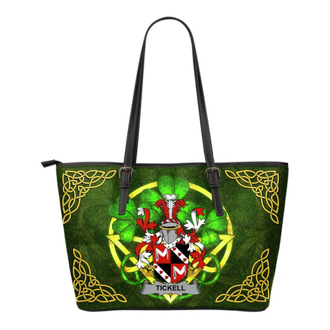 Irish Handbags, Tickell Family Crest Handbags Celtic Shamrock Tote Bag Small Size A7