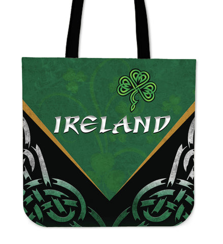 Irish Shamrock Tote Bag, Trinity Knot Tote Bag K4