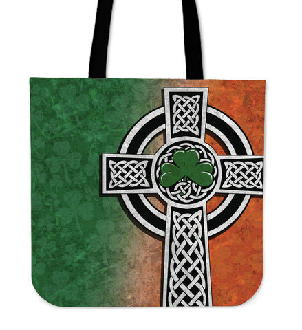 Irish Shamrock Tote Bag, Celtic Cross Tote Bag K4